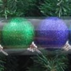 PÅ SALG! Multi Glitter 12 mini Baubles Tube – Gisela Graham