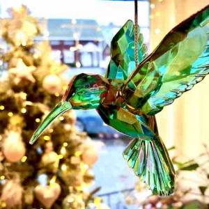 PÅ SALG! Rainbow Hummingbird Christmas Decoration Acrylic – Gisela Graham
