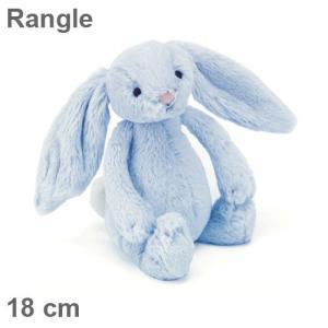 Kanin Plysj rangle Blå 18cm- JellyCat