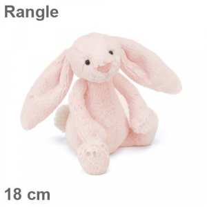 Plysj kanin med rangle 18cm Rosa – JellyCat