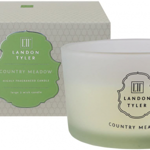 Country Meadow 3 wick Rose & Jasmine fragranced candle – Landon Tyler, England