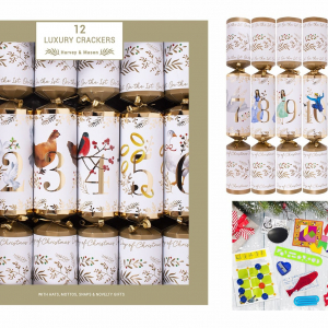 PÅ SALG! Luxury 12 Days of Christmas Crackers