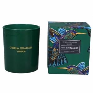Hummingbird Print Oud & Bergamot Scented Candle – Gisela Graham