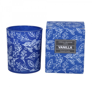 Holly Print Vanilla Scented Candle small – Gisela Graham