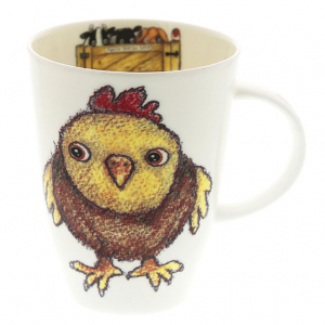 Fine Bone Chine – Chicken Mug – Roy Kirkham, England