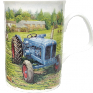 Fine Bone China – Tractor Lancaster Countryside Blue Mug – Roy Kirkham