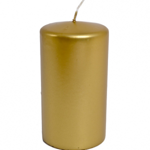 Gold Candle Pillar 150 x 70mm