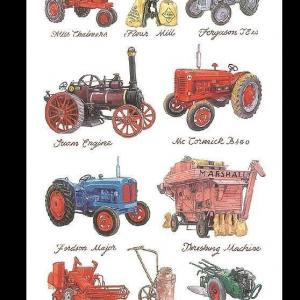 Farm Machinery & Tractor Tea Towel – Samuel Lamont