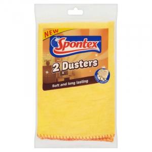 2 x Spontex Cleaning Dusters – 100% cotton 40x50cm
